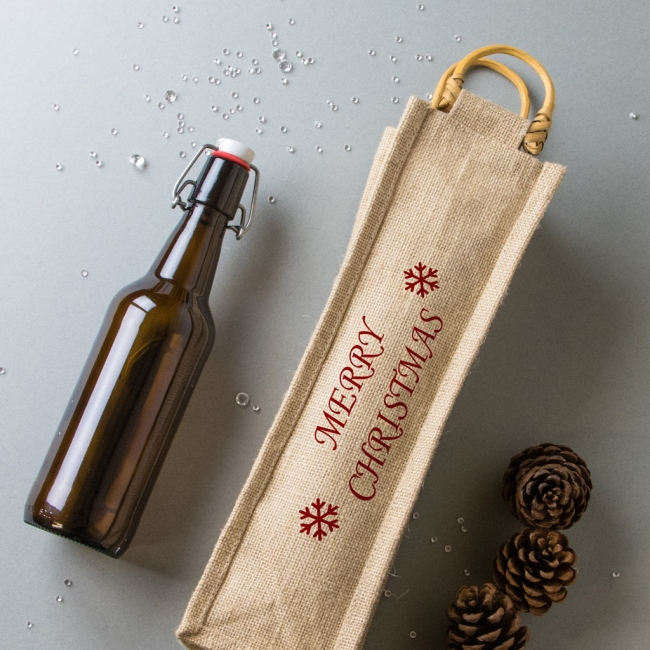 Christmas Bottle Bag - Merry Christmas