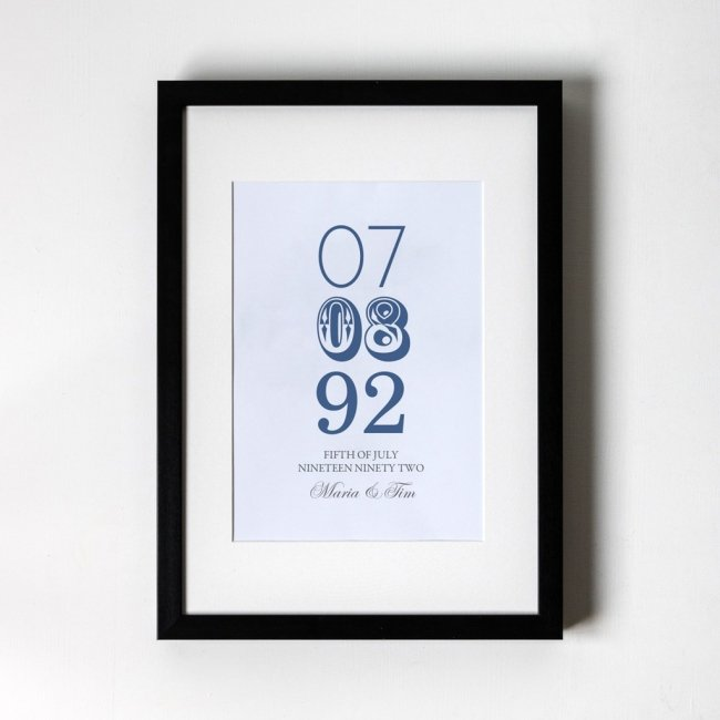 Memorable Date - Personalised Art Print