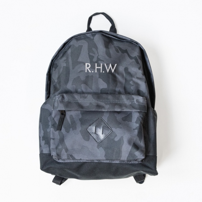 Personalised Embroidered Camo Ruck Sack - Midnight Camo
