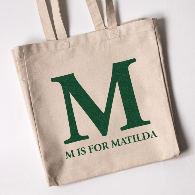 Monogram - Christmas Personalised Tote Bag