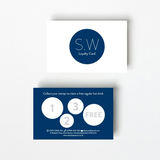 Monogram Loyalty Card - 4 Stamps