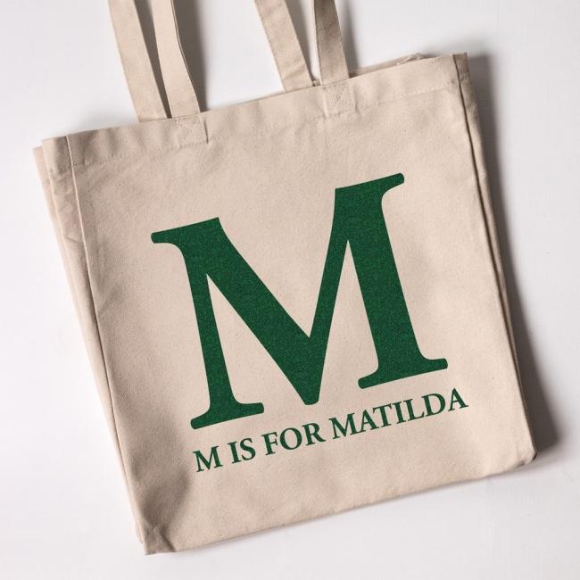 Monogram - Christmas Personalised Tote Bag