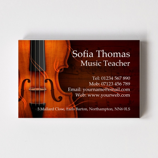 Music Teacher Templated Business Card 2