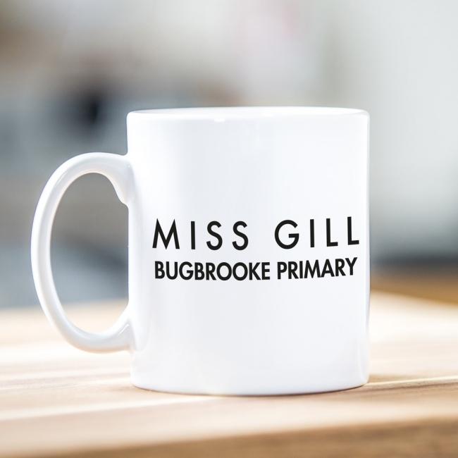 Personalised Teacher Gift Mug - Sans Serif