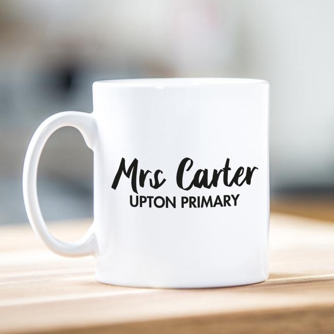 Personalised Teacher Gift Mug - Script