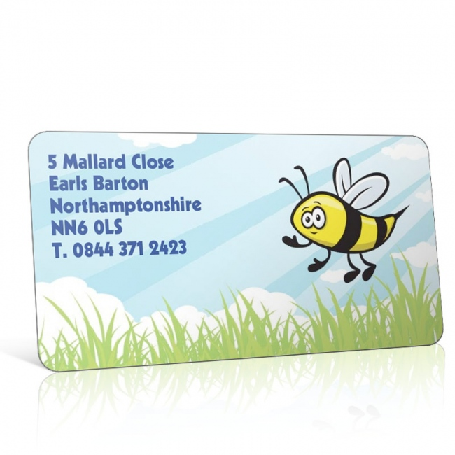 Pre Designed Bumble Bee Address Label on A4 Sheets