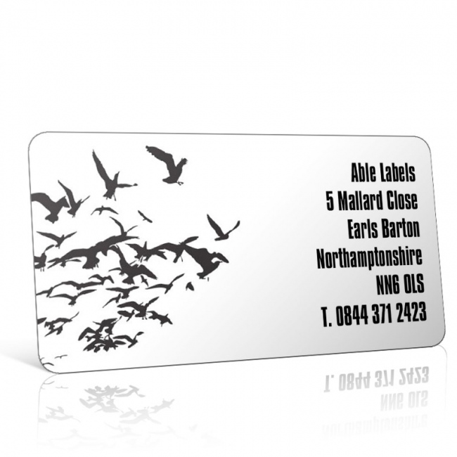 Pre Designed Birds Silhouette Address Label on A4 Sheets