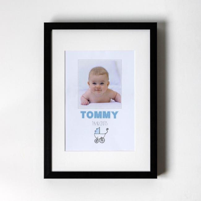 New Born Baby Boy - Personalised Art Print