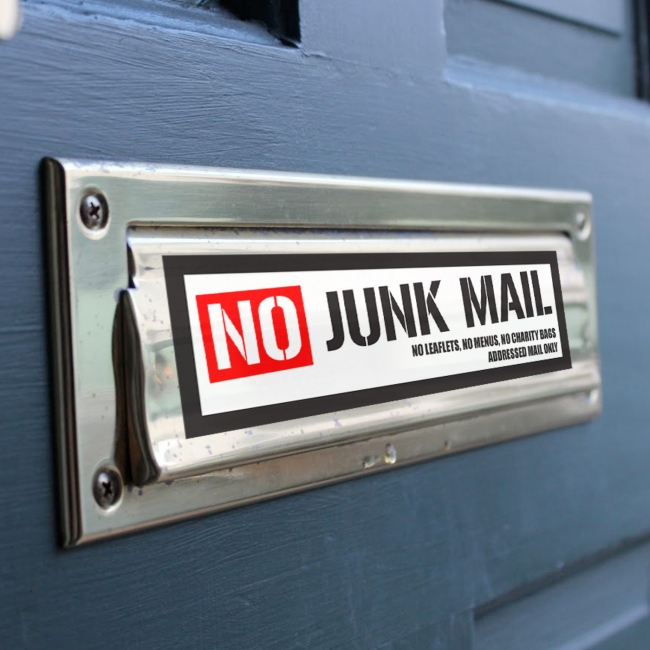 No Junk Mail Stickers