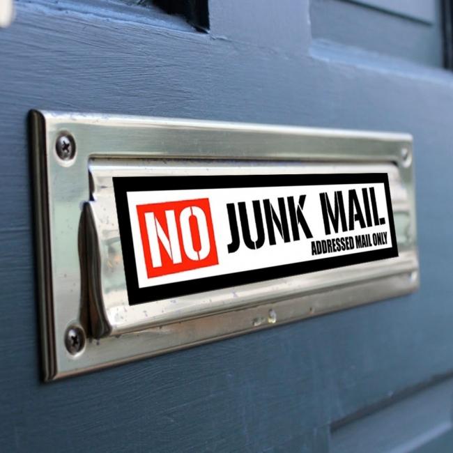 No Junk Mail Stickers