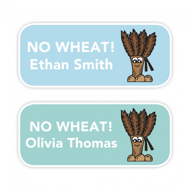 No Wheat - Allergy Labels - Style 3