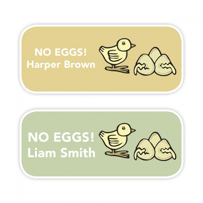 No Eggs - Allergy Labels - Style 1