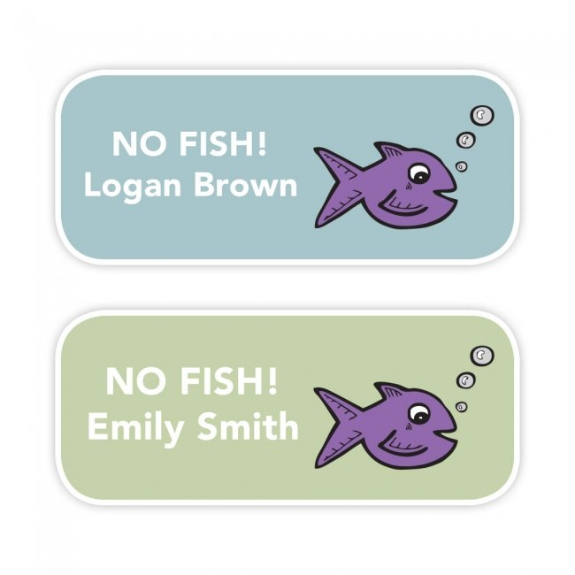No Fish - Allergy Labels - Style 1