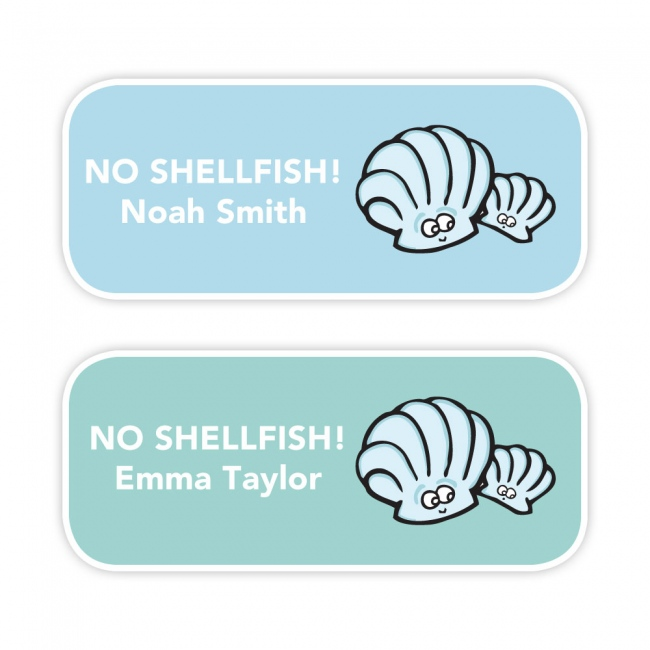 No Shellfish - Allergy Labels - Style 1