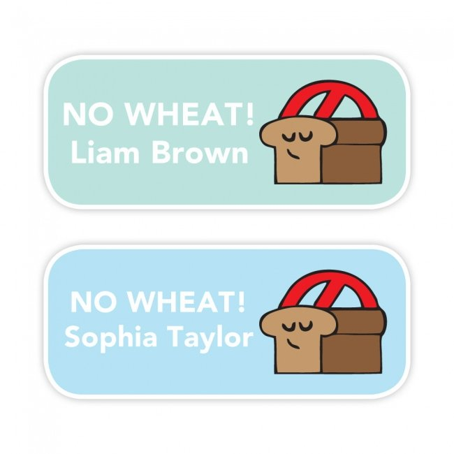 No Wheat - Allergy Labels - Style 2