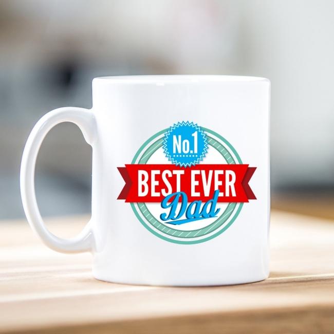No.1 Best Ever Dad Photo Mug
