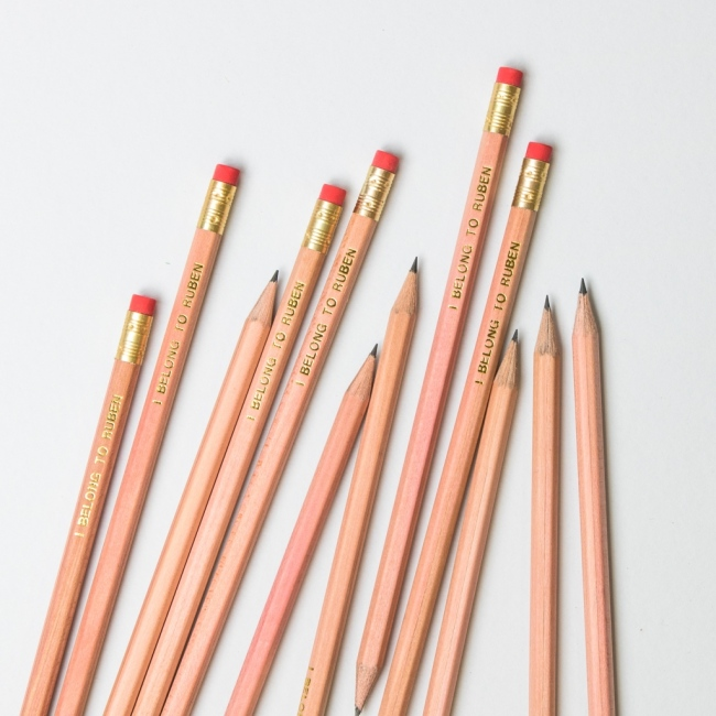 Personalised Natural Wood Graphite Pencils