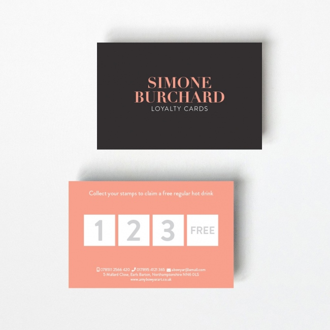 Opaque Loyalty Card - 4 Boxes