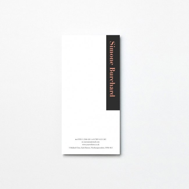 Opaque Tear Off Notepad