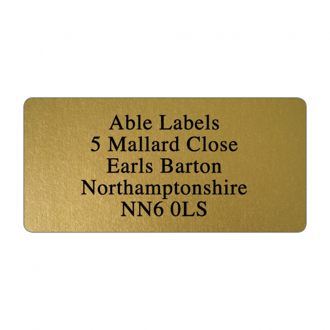 Gold Original Cut Address Labels