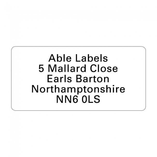 White Original Cut Address Labels