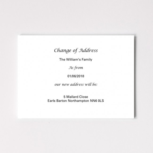Classic Change of Address Cards