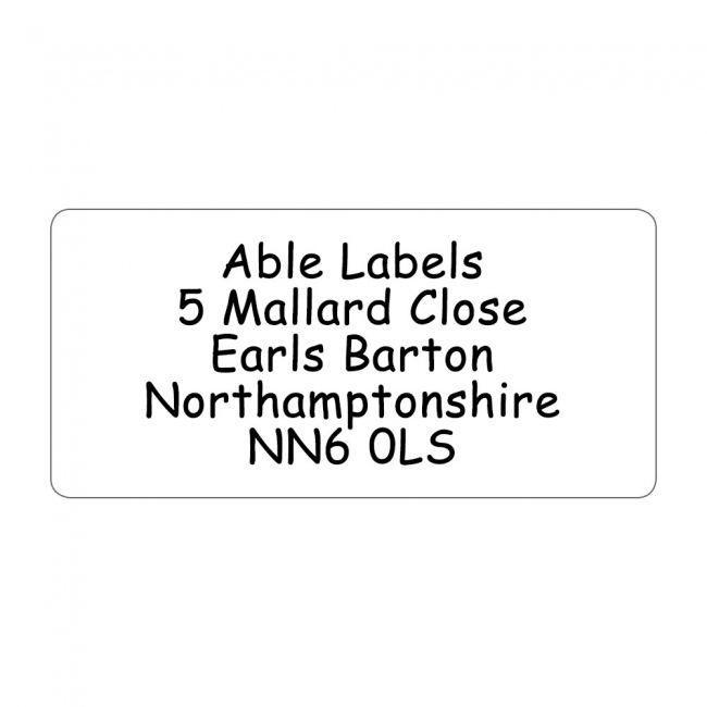 Clear Original Cut Address Labels