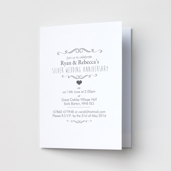 Ornate Anniversary - Party Invitations