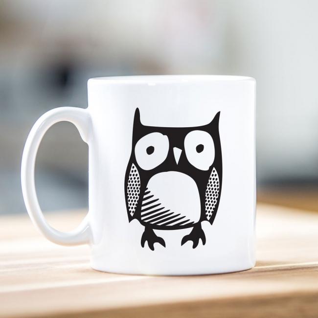 Owl Motif Mug
