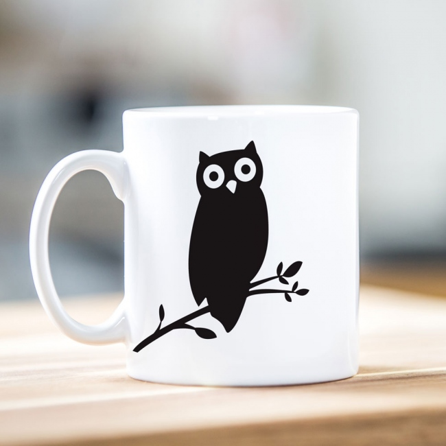 Owl Silhouette Teacher Mug