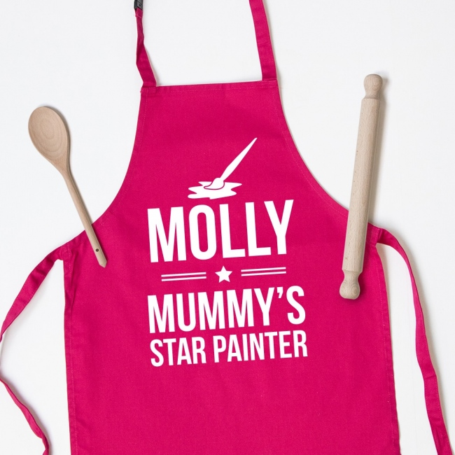 Personalised Kids Apron - Paint Brush