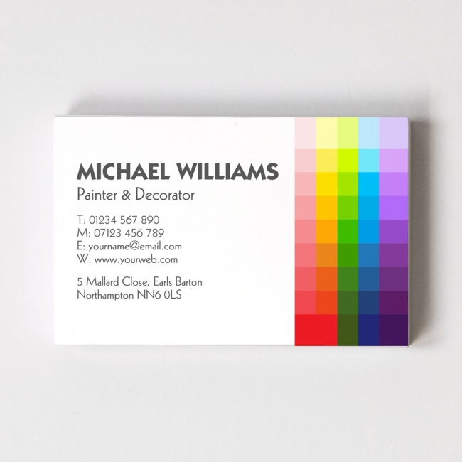painter business cards choice image business card template. Black Bedroom Furniture Sets. Home Design Ideas