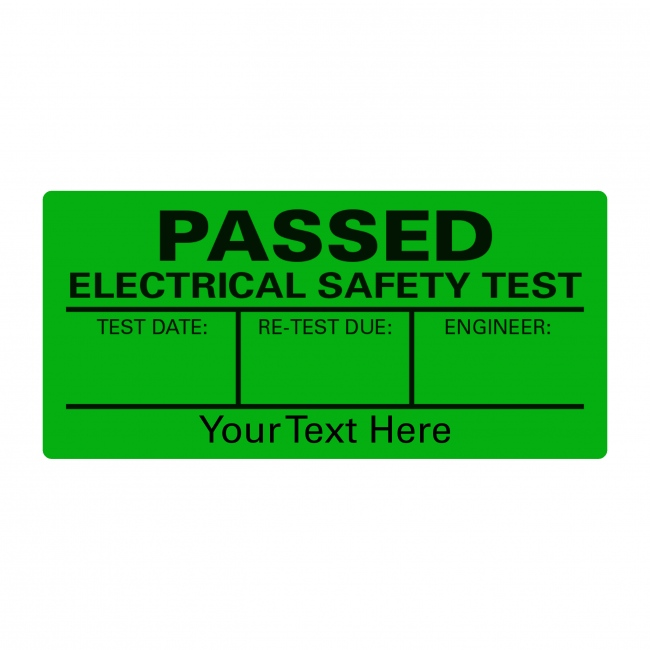 PAT Test Passed A4 Sheet Labels