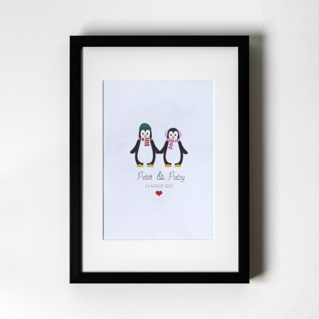 Penguin Design - Personalised Art Print