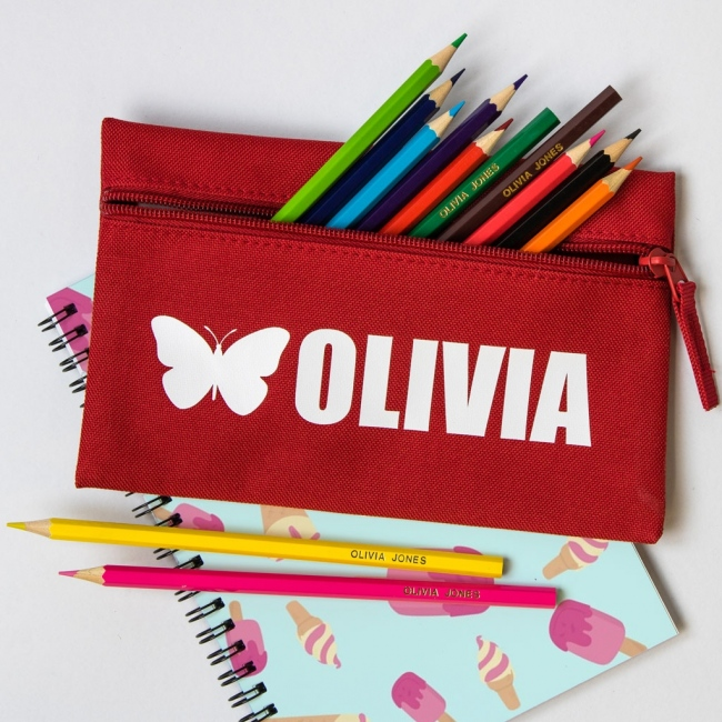 Personalised Vinyl Pencil Case