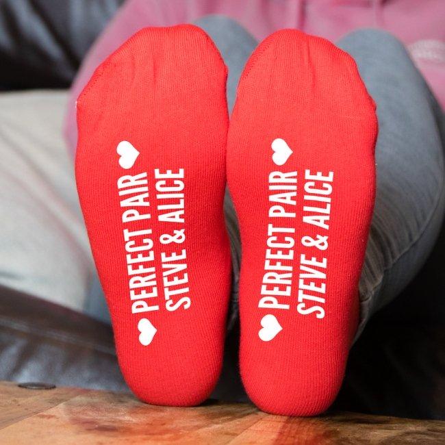"""""""Perfect Pair"""" Personalised Socks"""