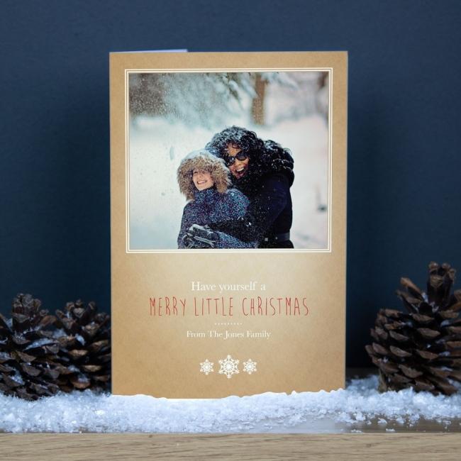 Premium Christmas Cards - Snowflake Photo Upload