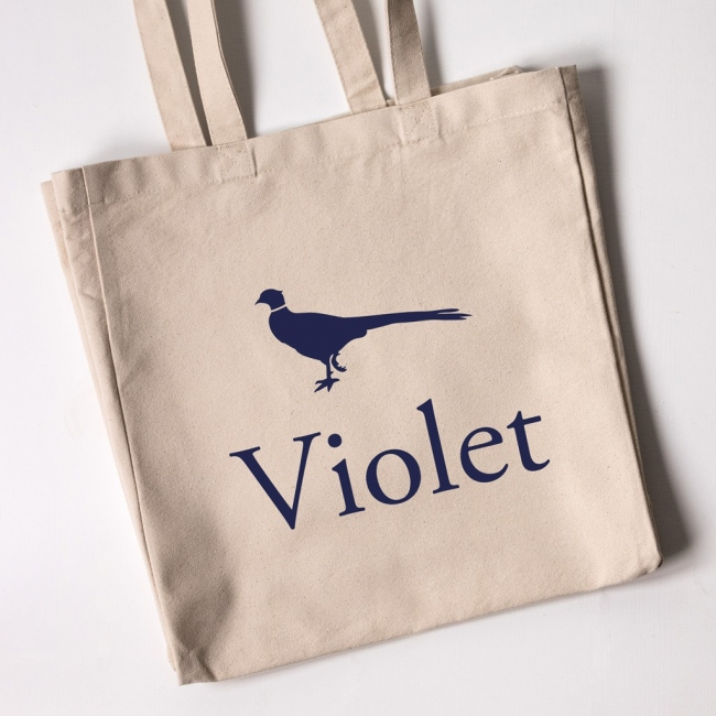 Personalised Tote Bag - Pheasant