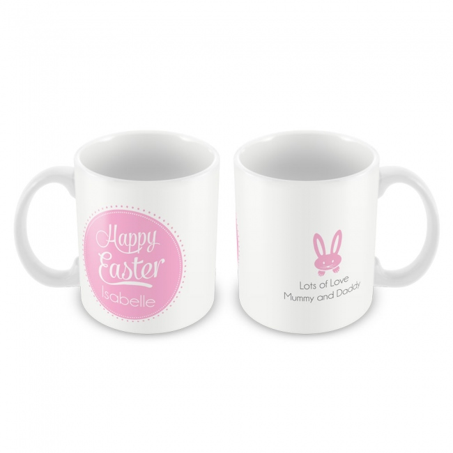 Pink Happy Easter Mug