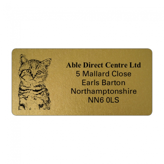 Gold Picture Cut Address Labels