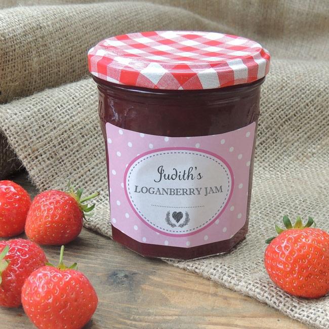 Spotty Pink - Jam Jar Labels
