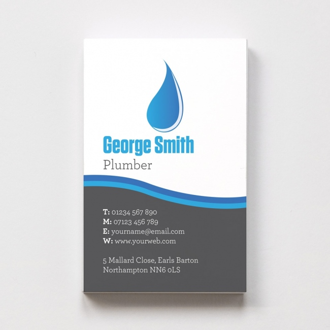 Templated Business Card Plumber 2