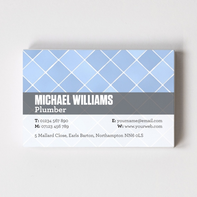 Templated Business Card Plumber 1