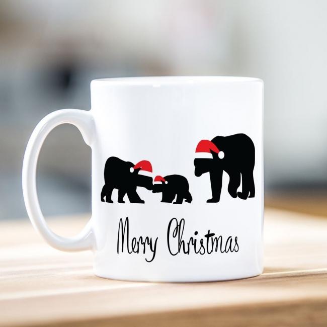 Family of Polar Bears Christmas Mug