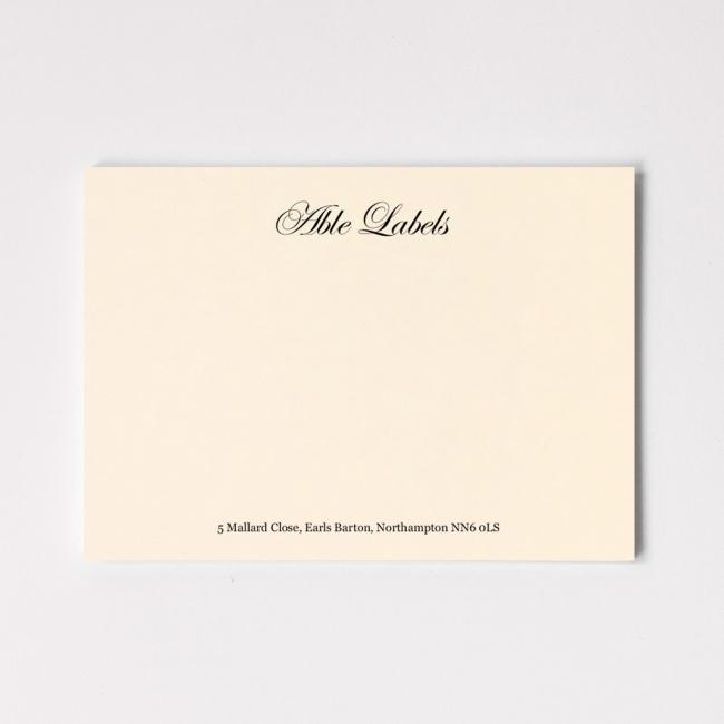 Classic Script Premium Correspondence Cards