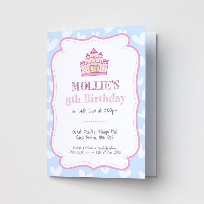 Princess Castle - Party Invitations
