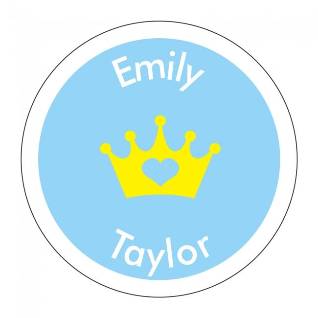 Princess - Round Shoe Labels