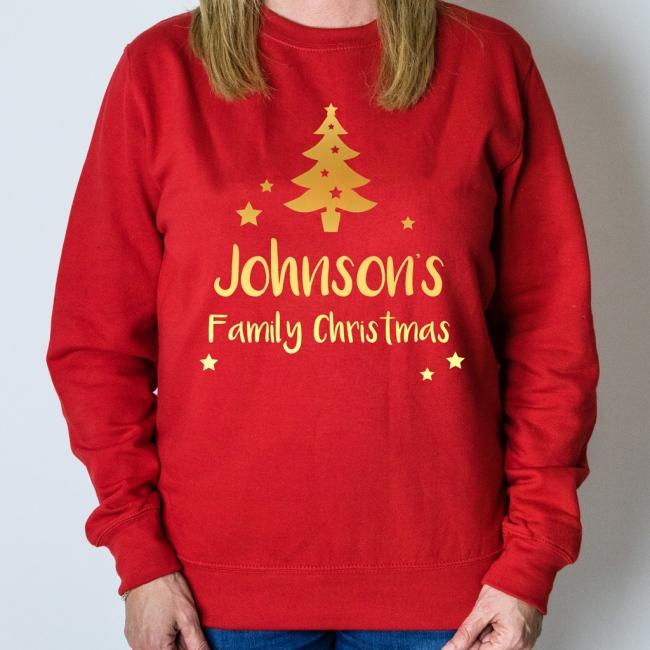 Personalised Christmas Jumper - Tree