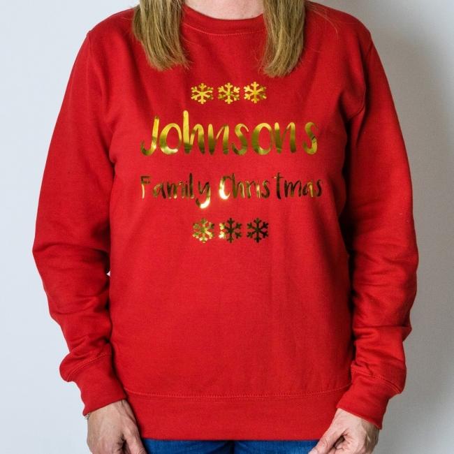 Personalised Christmas Jumper - Snowflake