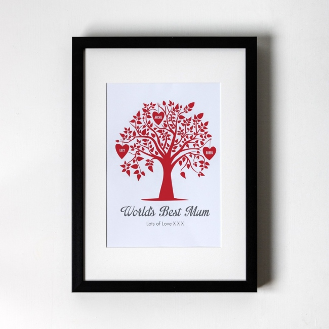 Family Tree - Personalised Framed Art Print